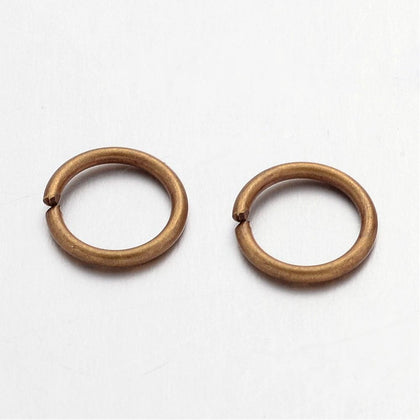 8mm Antique Brass Jump Rings 100 Grams