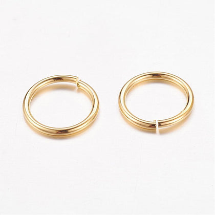 10mm Gold Jump Rings 100 Grams