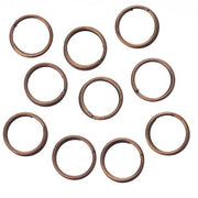 7mm Split Rings Antique Copper 100 Grams