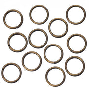 7mm Split Rings Antique Brass 100/pk