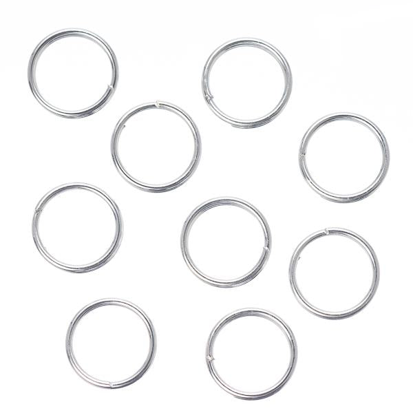 7mm Split Rings Silver 100/pk