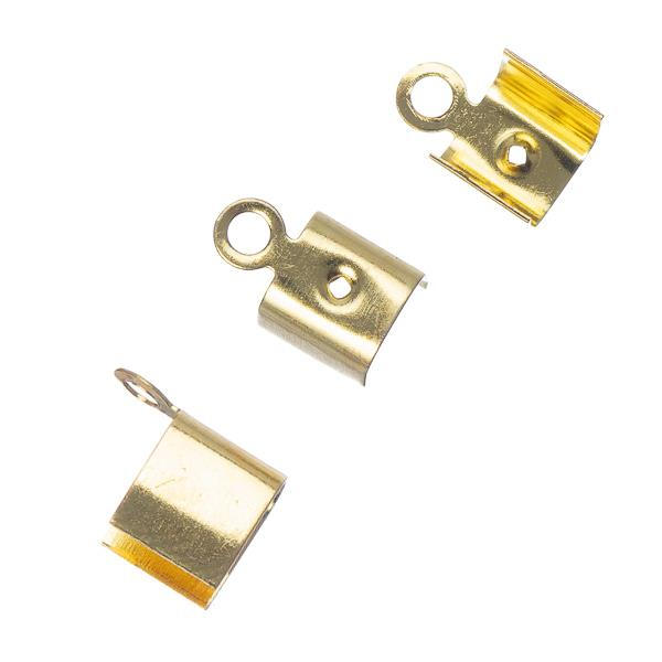 5mm Cord Ends Gold 10/pk