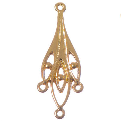 34mm Gold Chandelier 2/pk