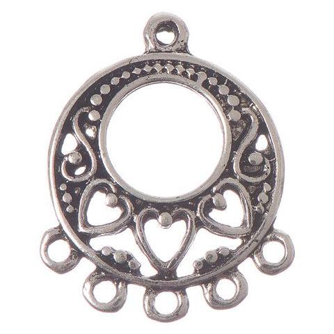 25mm Antique Silver Chandelier 2/pk