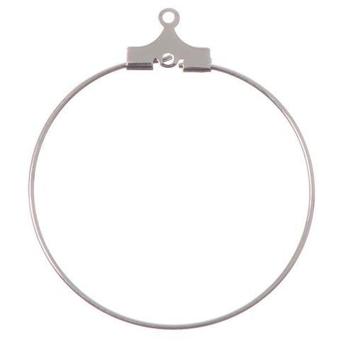 30mm Silver Beadable Earring Hoops 144/pk