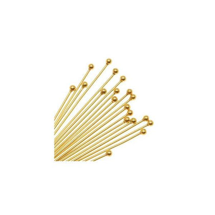 Gold 2 Inch 24g Ball Headpins 100/pk