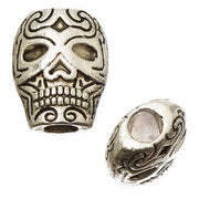 Antique Silver Skull Beads