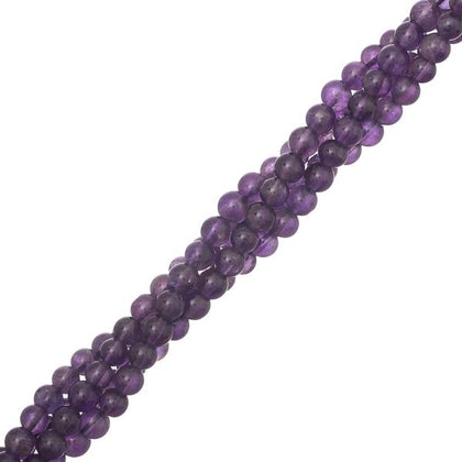 4mm Amethyst Gemstone Beads 15-16