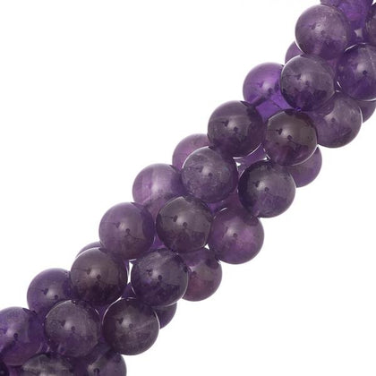 10mm round amethyst gemstone beads