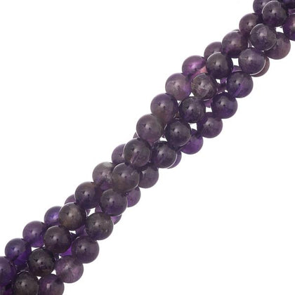6mm round amethyst gemstone beads