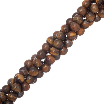6mm round Tiger Eye Gemstone Beads