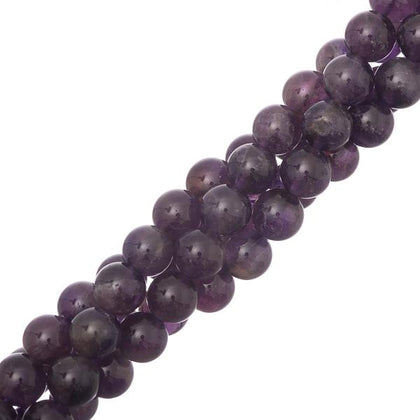 8mm round Amethyst Gemstone Beads