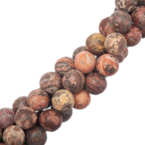 "10mm Leopard Skin Jasper Gemstone Beads 15-16"" Strand"