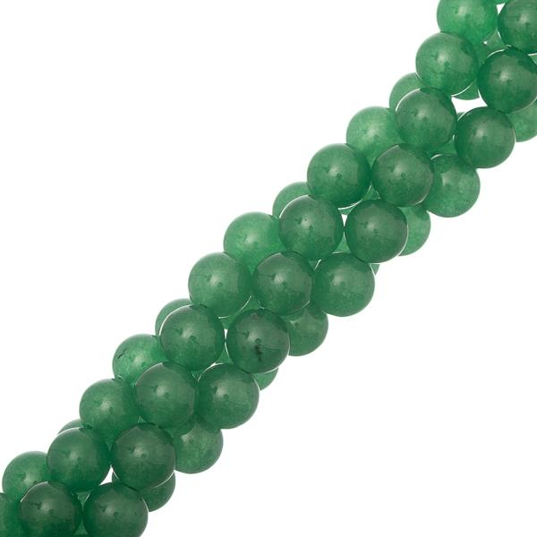 "8mm Aventurine Green (Natural/Dyed) Beads 15-16"" Strand"