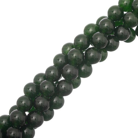 "8mm B.C. Jade Gemstone Beads 15-16"" Strand"
