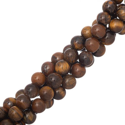 8mm Tiger Eye Gemstone Beads 15-16