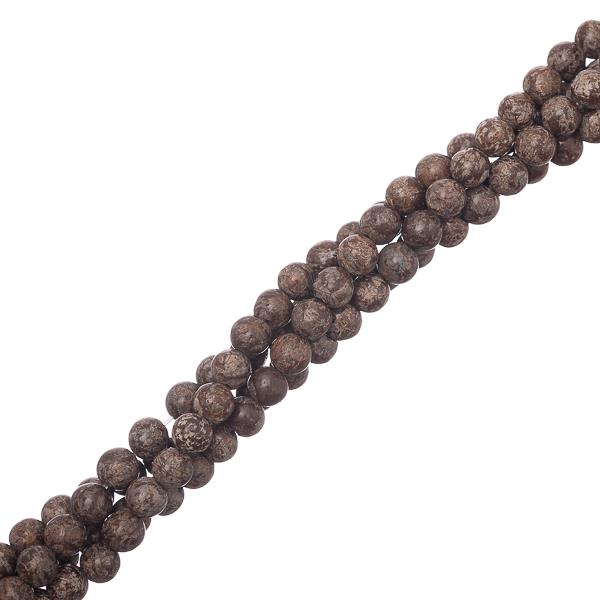 "4mm Obsidian Snowflake Brown (Natural) Beads 15-16"" Strand"