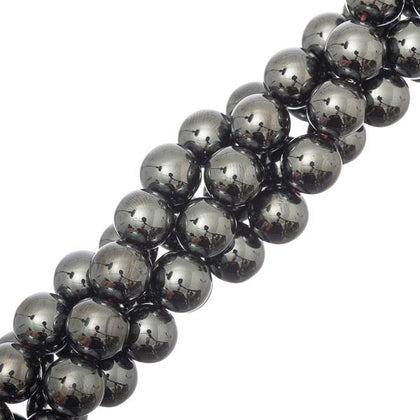 10mm Round Hematite Gemstone Beads