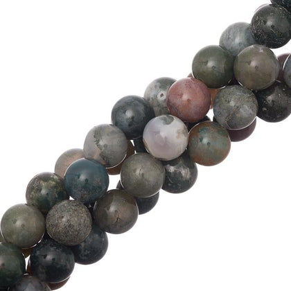 10mm Blood Agate Gemstone Beads 40/strand - i-Bead,  BLOOD AGATE