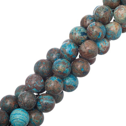 10mm Chrysocolla Gemstone Beads 15-16
