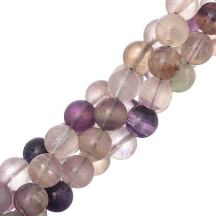 10mm Round Fluorite Gemstone Beads
