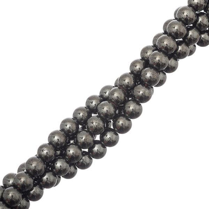 5-6mm Hematite Magnetic (Synthetic) Beads 15-16