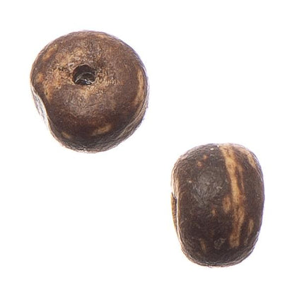 5mm Brown Coco Pukalet Wood Disc Beads
