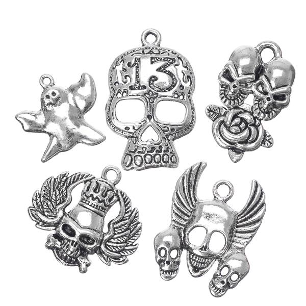 Halloween Theme Metal Charms 10/pk