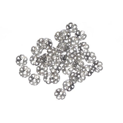 4mm Nickel Bead Cap 100/pk