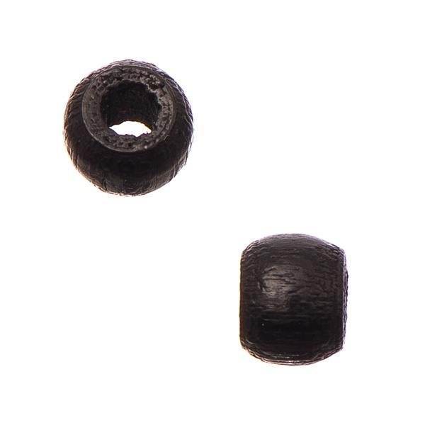 6mm Black Wood Mini Pony Beads 50/pk