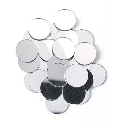 1 inch Round Glass Mirrors 10/pk