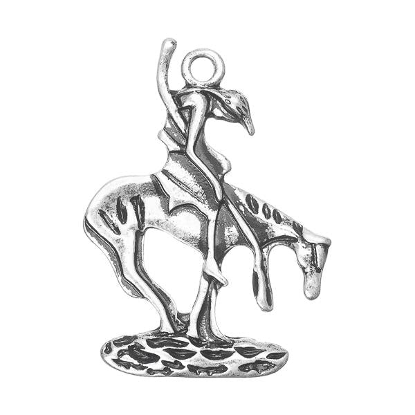 End Of The Trail Metal Charm 1/pk