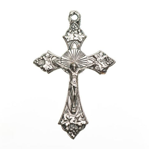 "1 1/2"" Nickel Crucifix Metal Charm 1/pk"