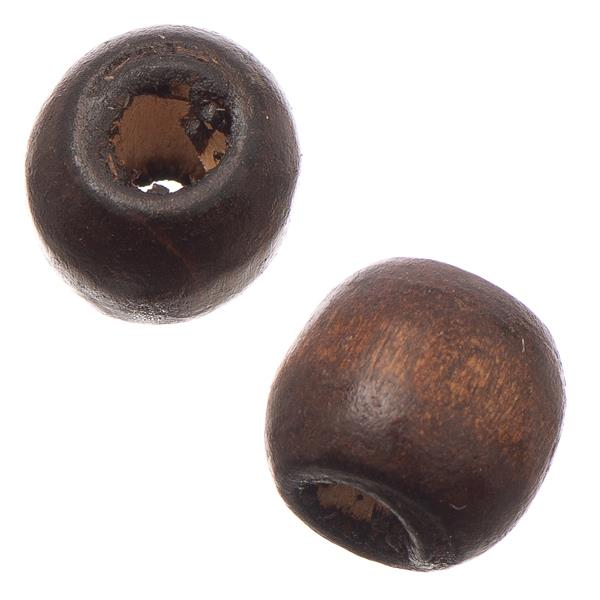 12mm Dark Brown Oval Wood Beads 100/pk