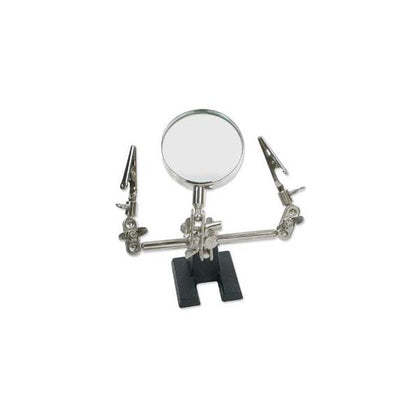 Third Hand with Alligator Clips and Magnifier
