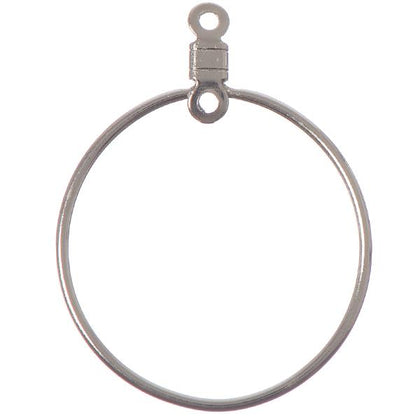 26mm Nickel Round Hoops 10/pk