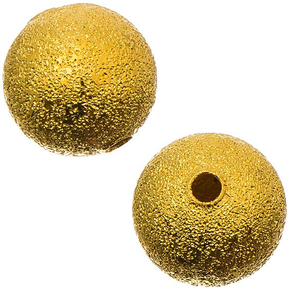 Gold Stardust 10mm Metal Bead 10/pk