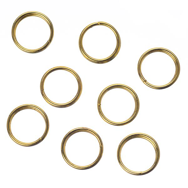 7mm Split Rings Gold 100 Grams