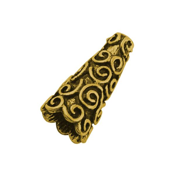 9x18mm Antique Gold Cone 2/pk