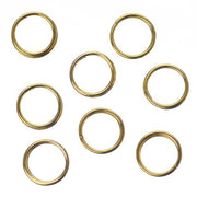 7mm Split Rings Gold 100/pk