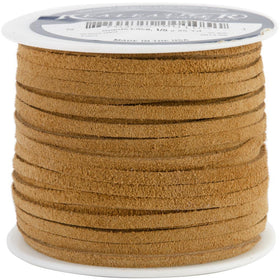 1/8 Inch Toast Suede Lacing 25yd - i-Bead,  TOAST
