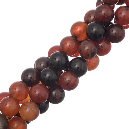 10mm Round Natural Agate Gemstone Beads