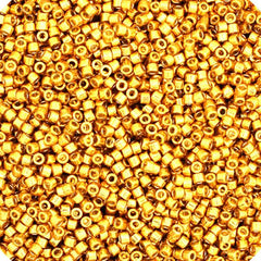 11/0 Japanese Delica Beads Galvanized Gold 5.2g