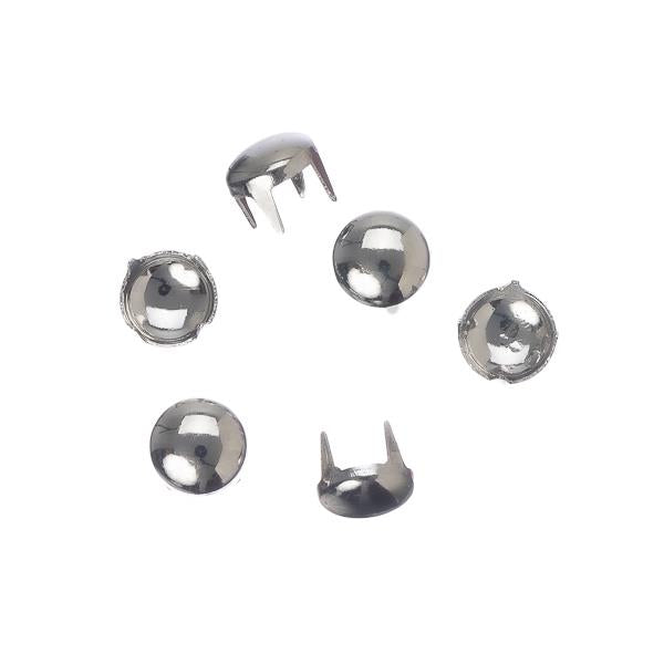 6mm Round Nickel Garment Studs 10/pk