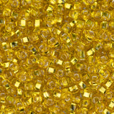 10/0 Czech Seed Beads Silver Lined Yellow 22g - i-Bead,  YELLOW