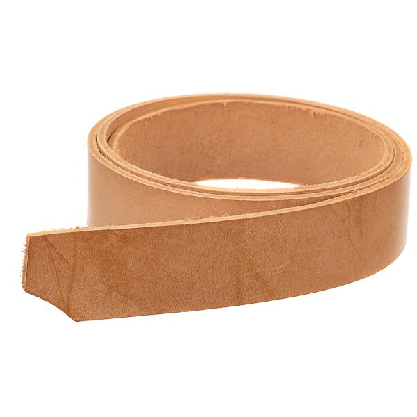"1 1/2"" Vegetable Tanned Tooling Leather Strips - 4 Feet"