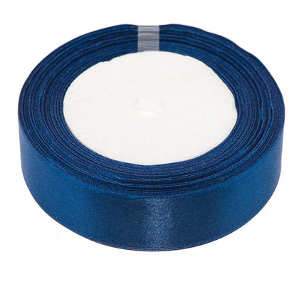 25mm Satin Ribbon Dark Blue 25yd