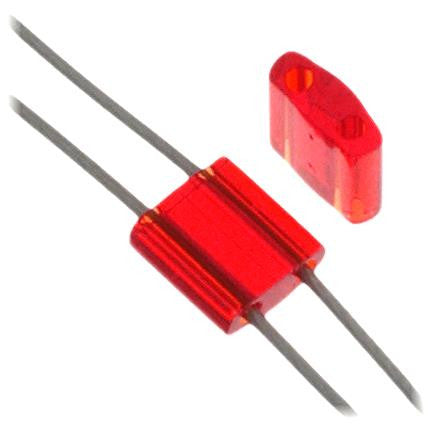 5x5mm Japanese Tila Beads Transparent Red 5.2g