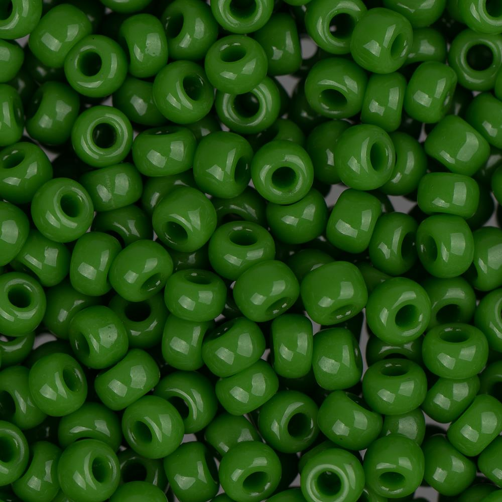 8/0 Japanese Seed Beads Opaque Jade Green 22g