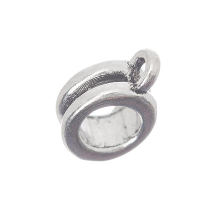 Antique Silver Pandora Style Bead With Loop 5/pk